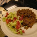 Κοτόπουλο ξιδάτο με φακές και κύμινο