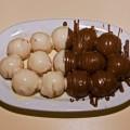 Λουκουμάδες βουτηγμένοι σε σοκολάτα