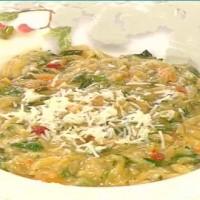 Κριθαρότο με έτοιμη χορτόσουπα