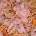 Λιγκουίνι με κοτόπουλο, μέλι και μουστάρδα