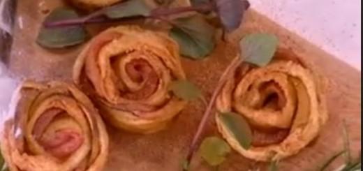 Πρωτότυπα μηλοπιτάκια σε σχήμα τριαντάφυλλου