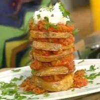 Πύργος με πατάτα και κιμά λουκάνικου